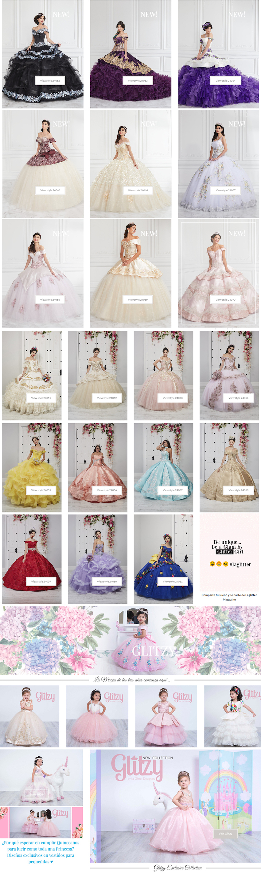 la glitter spring 2020 quinceanera collection