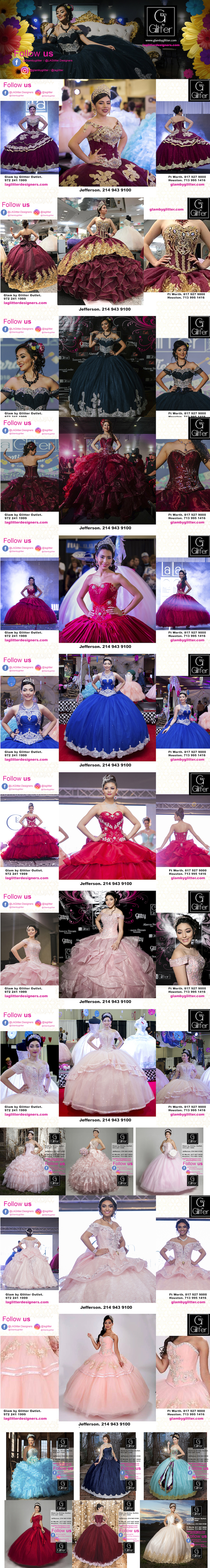 fe4fb74818d La Glitter Quinceanera Dresses Dallas