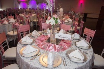 Quinceanera Hall Decorations Pink Quinceanera Dec...