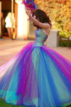 Colorful Quinceanera Dresses in Dallas TX