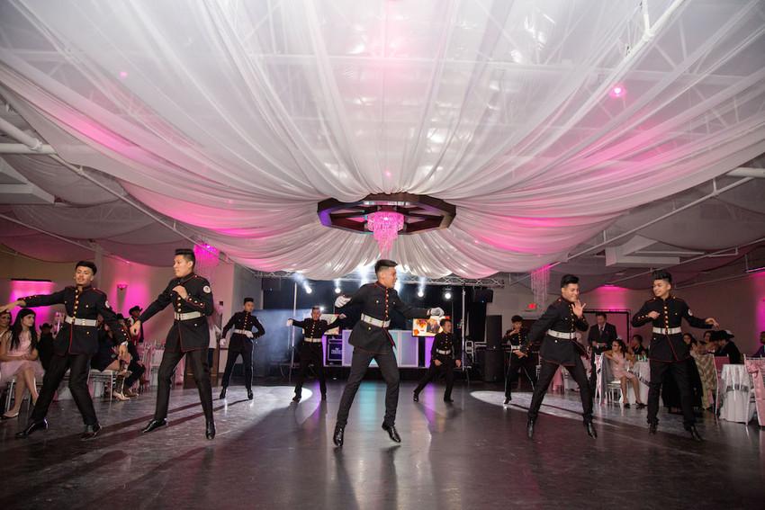 Latin Boyz Cadets quinceanera choreography