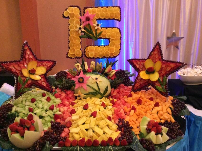 Rosy decoraciones y frutas quincea eras y bodas dallas for Como secar frutas para decoracion